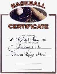 certificate softball award certificate template