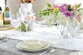 Spring Table Settings Ideas by Spring Tablescape Entertaining Affordable Stemware