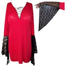 halloween shirts plus size sale red u0026 black plus size gothic witchy bell sleeve extra long