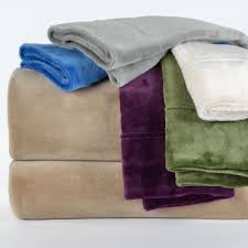 cozy microfleece and plush bedding linens in sheet sets and open