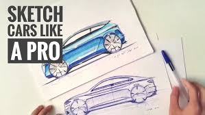 how to sketch draw design cars like a pro udemy