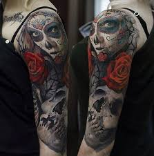 Skull Arm - 92 best day of the dead tattoos images on day of the