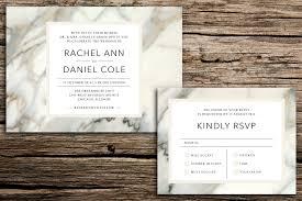 Card Factory Party Invitations Modern Marble Wedding Invitation U0026 Rsvp Card U2014 Factory Made