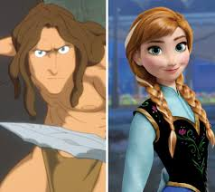 anna from frozen hairstyle tarzan s sisters are anna and elsa from frozen