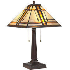 Arts And Crafts Desk Lamp Arts And Craft Mission Style Lamps Ebay