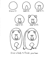 how to draw a grizzly bear step by step for kids