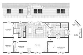 Double Master Bedroom Floor Plans 4 Bedroom Floor Plan B 6012 Hawks Homes Manufactured 3 Mobile Home