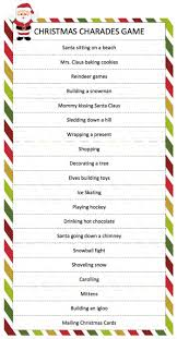 christmas charades game charades game charades and free printable