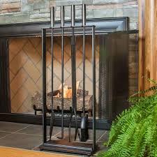 5 piece modern fireplace toolset matte black northline express