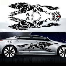 subaru side decal 1set car decal vinyl graphics side decals body sticker animal