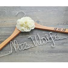 personalized wedding hangers personalized wedding hanger with date custom bridal