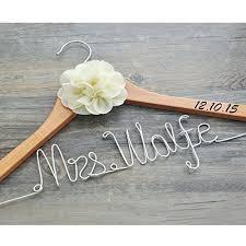 wedding dress hanger personalized wedding hanger with date custom bridal
