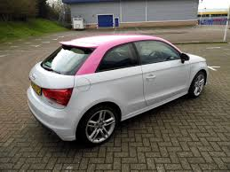pink audi vehicle wrapping motofx