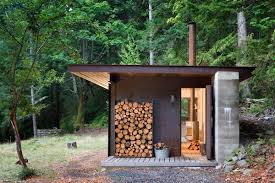 Cabin Design Ideas View In Gallery One Room Cabin Steel Panel Slider Olson Kundig