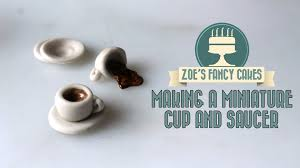 making a miniature cup and saucer in fondant how to tutorial zoes