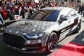 2018 audi a8 shows up at spider man homecoming premiere the