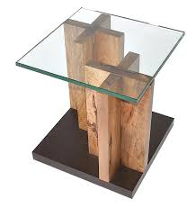 Trunk Like Coffee Table by Bugre Wood Trunk U0026 Glass Top Coffee Table Contemporary
