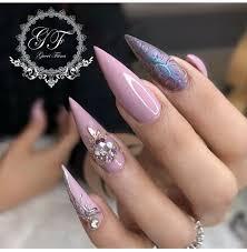 my nails by fiina nail lounge glo njf stiletto nails nail