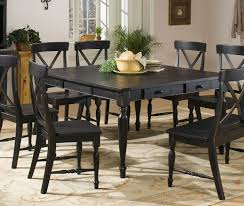 dining room distressed sets wood white round black talkfremont