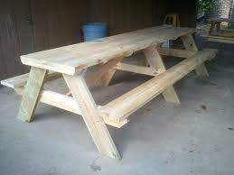 Folding Wood Picnic Table Plans by Outdoor Picnic Table And Bench Set Wooden Picnic Benches Wooden
