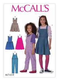 mccall s 7459 children s jumpers and overalls