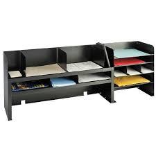 Desk Storage Organizers Desk Organizer With Adjustable Shelves Black Industries
