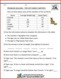 math problem worksheets tallest trees metric tutoring