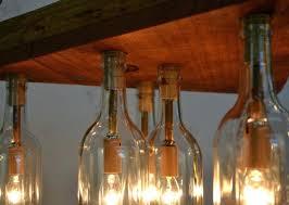 Wine Bottle Chandeliers Wine Bottle Light Fixture Chandelier Lighting Setup For