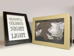 shadow of the colossus night light video game home decor