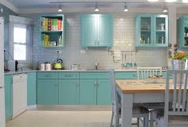 aqua kitchen houzz
