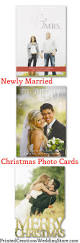 Newlywed Cards Photo Christmas Cards For Sharing Your Favorite Wedding Photo This