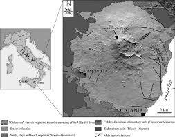 geological sketch map of mt etna volcano italy showing the