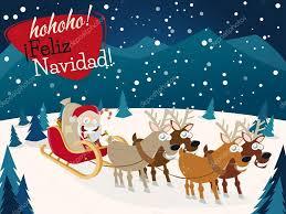 imagenes de santa claus feliz navidad spanish christmas greetings feliz navidad with santa claus and