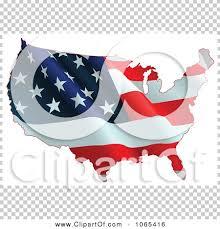 clipart waving american flag map royalty free vector