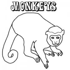 dozens free monkey coloring pages internet