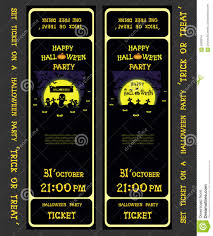 skeleton halloween background set vector design ticket on a halloween party with pumpkins ghost