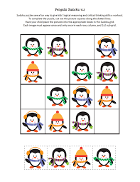 penguin sudoku free printables 3 funnycrafts
