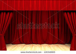 Theater Drape Theater Curtain Background Act Drape Stock Illustration 370517021