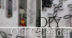 Decorating Ideas For Older Homes Diy Room Or Home Decoration Recycled Old Calendar Into Wall