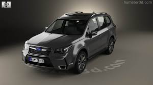 subaru forester touring 360 view of subaru forester xt touring 2016 3d model hum3d store