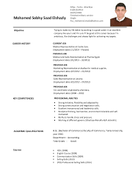 Sample Accounting Resume No Experience by Download Sample Resume For Medical Representative