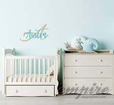 monogram wall decals for nursery custom name decal personalized name and initial nursery wall