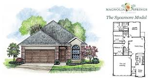 Sycamore Floor Plan The Sycamore Model Affordable Luxury In Magnolia Springs La