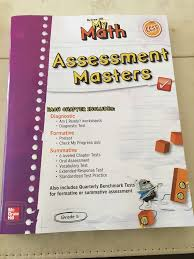 mcgraw hill my math assessment masters grade 5 common core