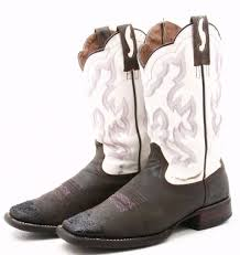 ariat nitro mens cowboy boots size 8 5 d leather white brown