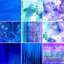 blue painted canvas collection stock illustration image 14517824