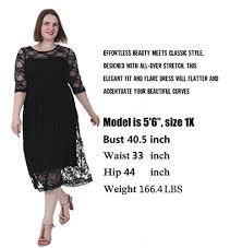 women u0027s plus size dress floral lace empire waist fit and flare 1x 5x