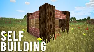 minecraft the self building house no command blocks youtube