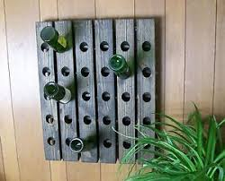 riddling wood wine rack ebay