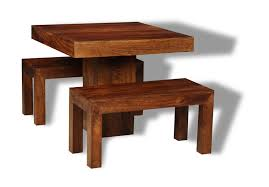 Mango Dining Tables Small Dakota Cube Dining Table 2 Dining Benches Trade